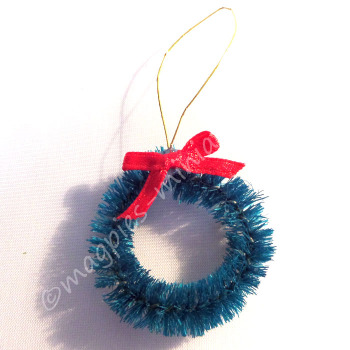 Christmas door Wreath with Red Bow