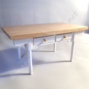 White and Pine Kitchen Dining table