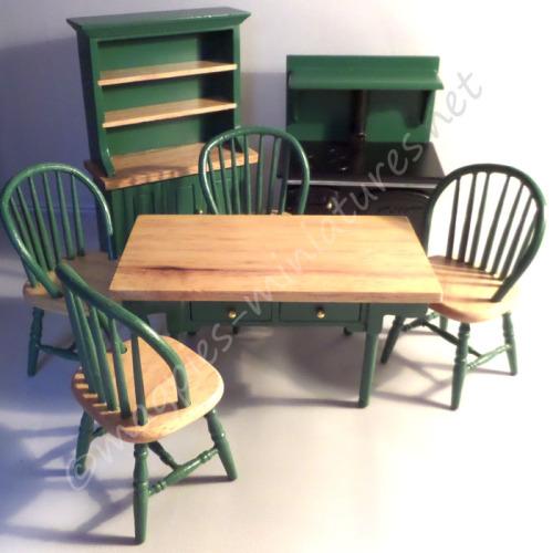 Green Kitchen Dining set