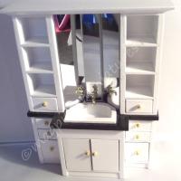 Modern bathroom sink unit with storage