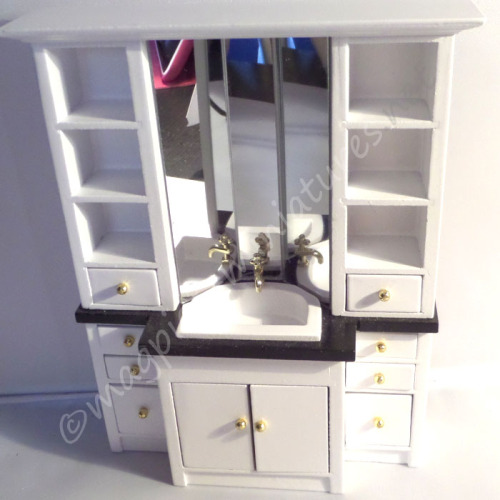 Modern bathroom sink unit with storage