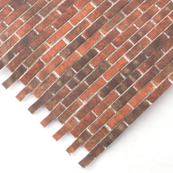 Embossed Dark Brick external wallpaper