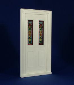 Plastic Victorian Front Door, Stained Glass