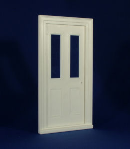 Plastic Victorian Front Door, Clear Glass