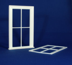 Plastic Victorian Large 4 Pane Window
