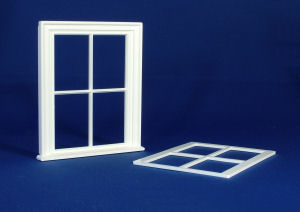 Plastic Victorian Small 4 Pane Window