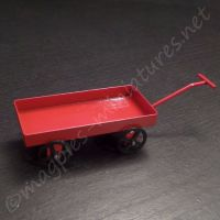 Metal Red Toy Pull-Along Cart
