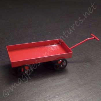 Metal red toy cart