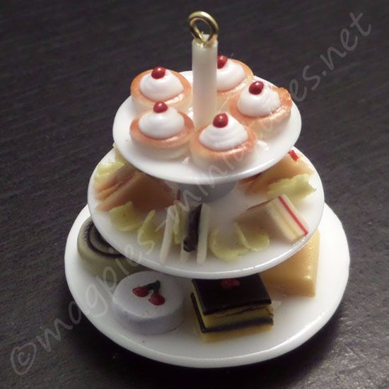 Afternoon tea cake display