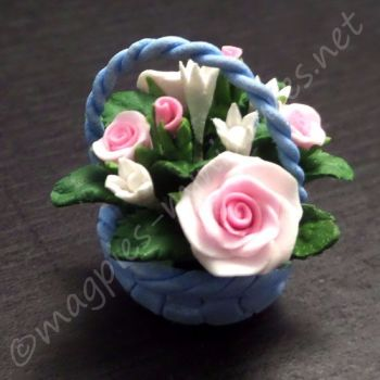 Blue Flower Basket