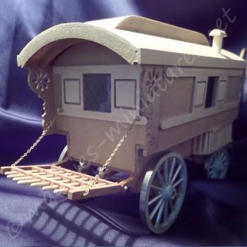 Miniature Gypsy Caravan - Ready Built! 24th scale