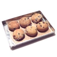 Baking tray with cookies