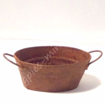 Rusty Oval Bucket