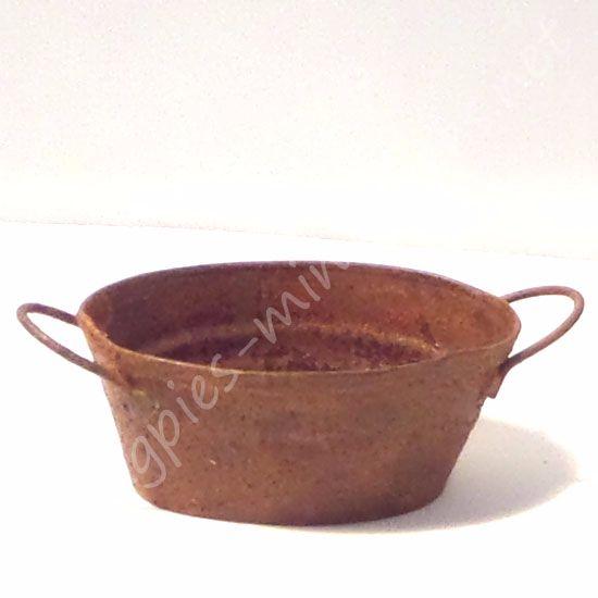 Rusty Oval Bucket