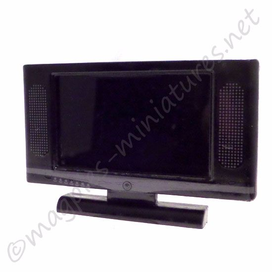 Black Widescreen TV