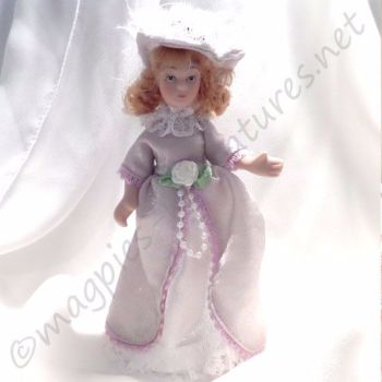 Doll - Child - Victorian girl in lilac dress