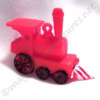 Red plastic train