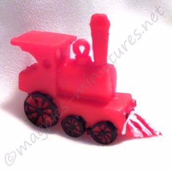 Red plastic train