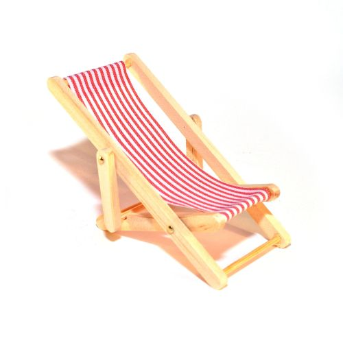 Red Deck Chair - THIN STRIPE