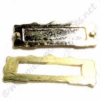 Gold coloured metal letterbox