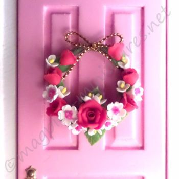 Door rose wreath