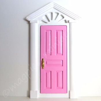 Door : Painted Pink and White