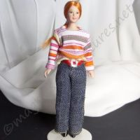 Lady - Woman in stripey jumper