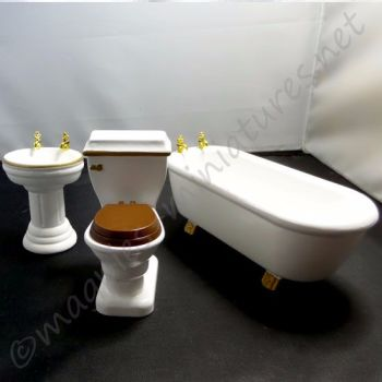 3 piece bathroom set - 12th Scale