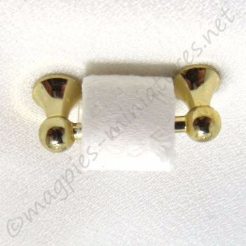 Toilet Roll Holder in brass