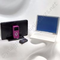 Laptop, MP3 player, and mobile phone set