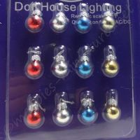 Christmas Decoration 12 Pack Glass Baubles - Silver clasp