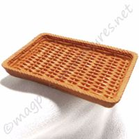 Brown wicker effect tray