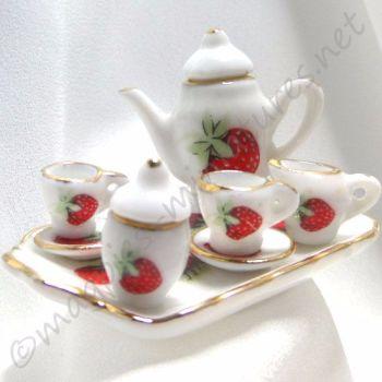 Strawberry teaset