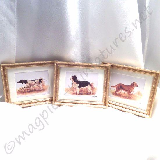 3 Framed Art Prints : Dogs