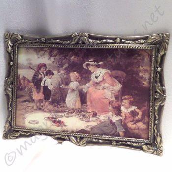 Framed Art Print : picnic scene