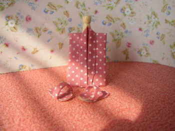 Folded Pink Gown & Slippers