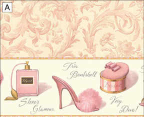 Wallpaper-Boudoir - Pink