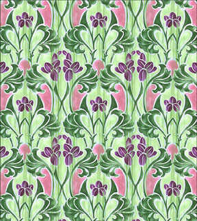 Wallpaper-Art Nouveau Closed Tulips