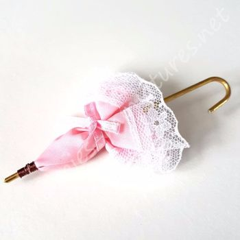 Pink Umbrella - Parasol - 12th Scale