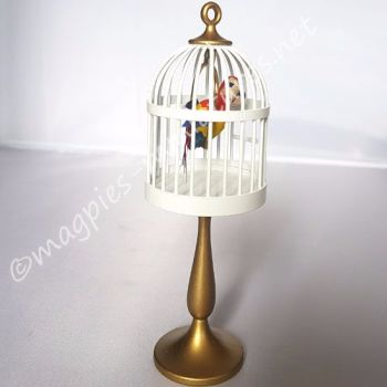 Bodo Hennig Parrot cage on stand.
