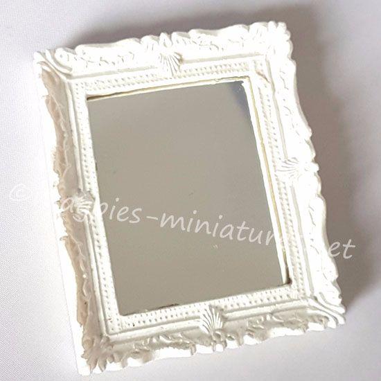 Shabby chic white mirror