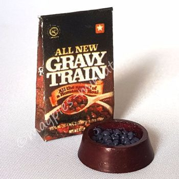 Dog Food and bowl set - gravy train
