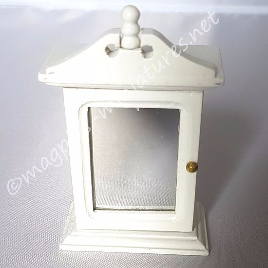 White mirrored bathroom cabinet