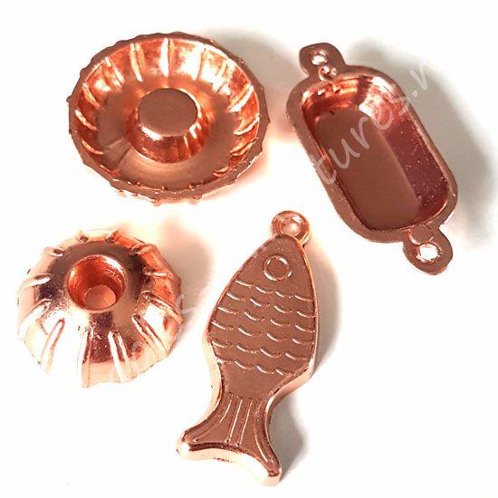 Copper kitchen moulds - set of 4