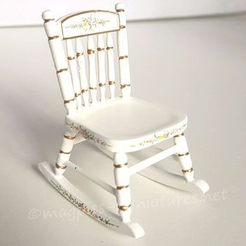 Cream rocking chair with details