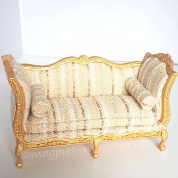 Golden Louis XV Sofa