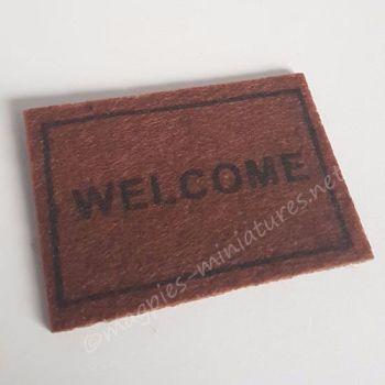 Welcome Bristle Door Mat
