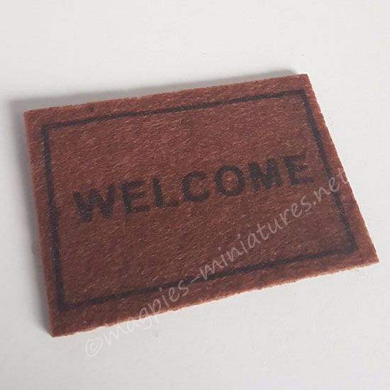 Welcome Bristle Door Mat