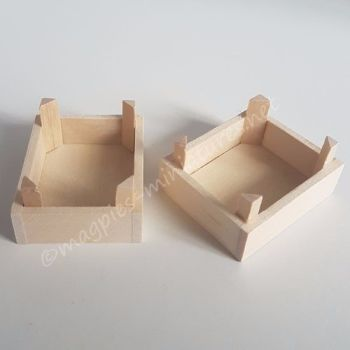 Pack of Two Crates - Wood
