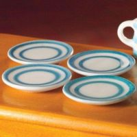 4 Cornish style plates, 25mm